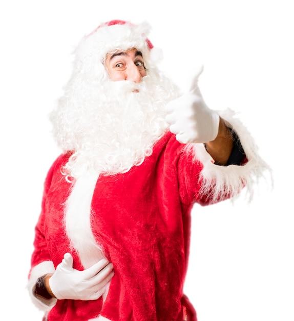 Santa with thumb up Free Photo
