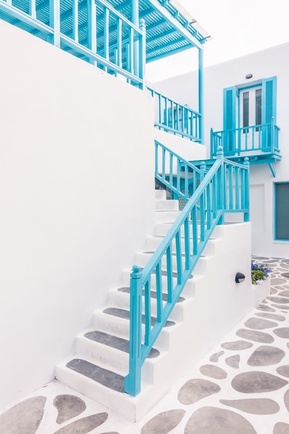 Santorini island architecture cyclades alley Free Photo