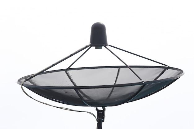 Satellite dish isolate Premium Photo