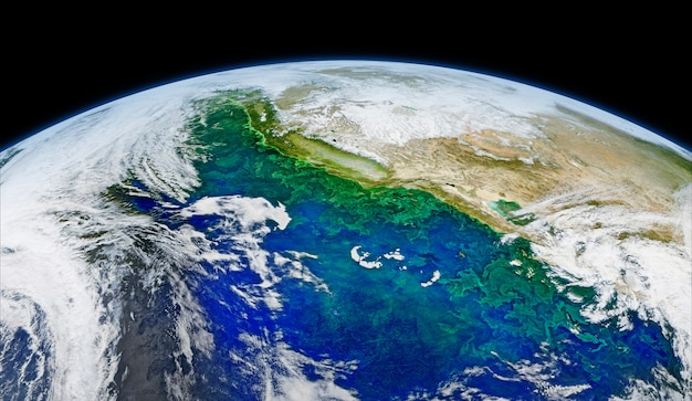 Satellite image of earth. original from nasa. digitally enhanced by rawpixel. | free image by rawpix Free Photo