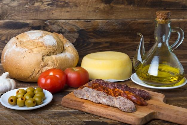 Sausage spanish food Premium Photo