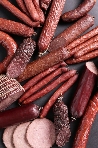Sausages types Free Photo
