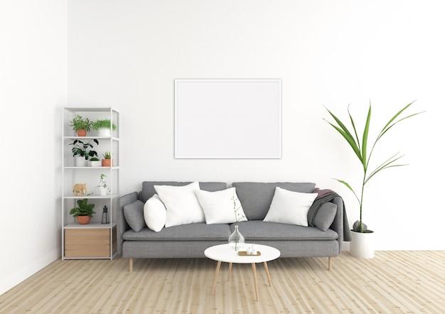 Scandinavian interior - horizontal frame - art background Premium Photo