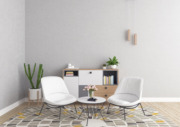Scandinavian Interior Living Room Background Photo
