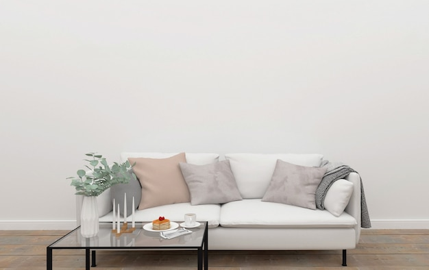 Wall Art Mockup Living Room