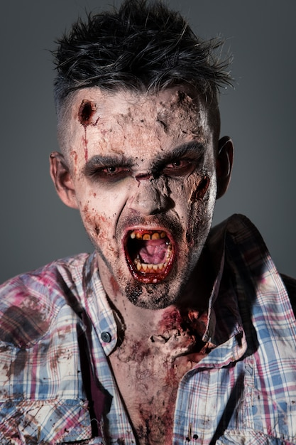 Scary zombie costume cosplay Free Photo