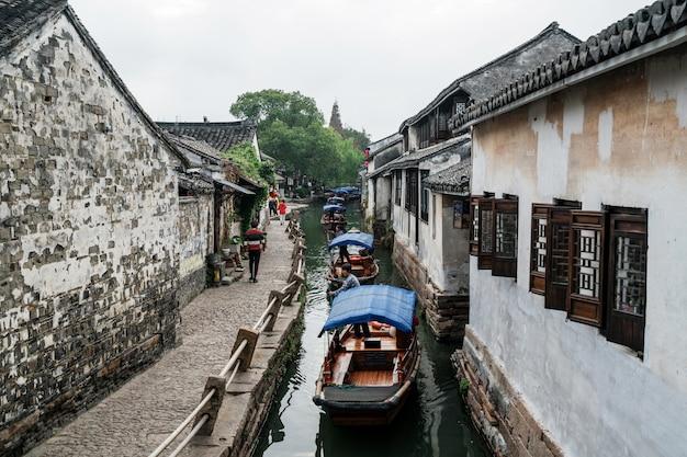 Scenery of zhouzhuang ancient town, suzhou, china Premium Photo