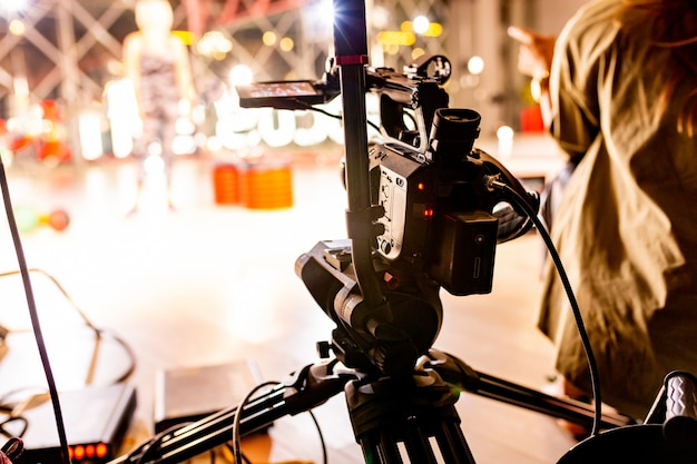 Behind the scenes of video production or video shooting Premium Photo
