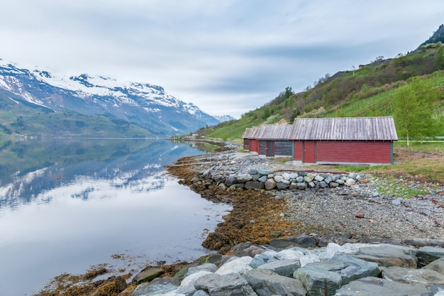 Scenic landscapes of the norwegian fjords. Free Photo