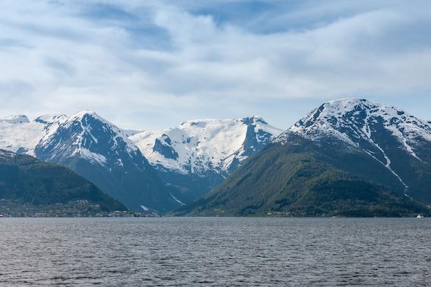 Живописные пейзажи норвежских фьордов Бесплатные Фотографии