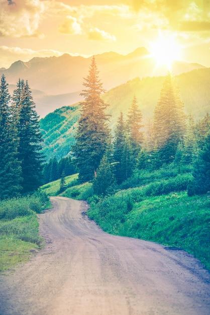 Scenic mountain road Free Photo