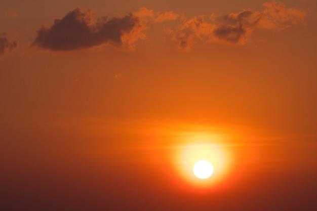 Scenic orange sunset sky background Premium Photo