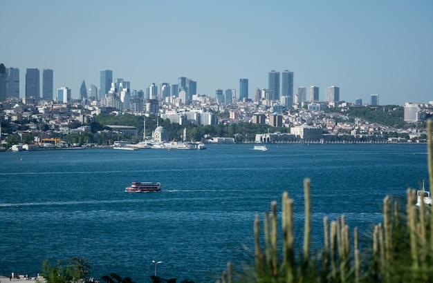 Scenic panoramic view of istanbul, turkey Premium Photo