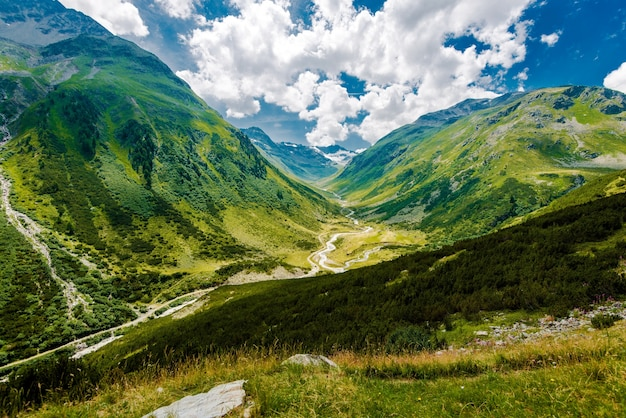 Scenic swiss alps mountains Free Photo