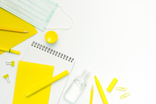 School items with white background Free Photo
