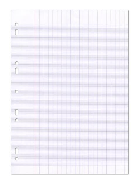 Текстура листа бумаги выровнянная школа. Premium Фотографии