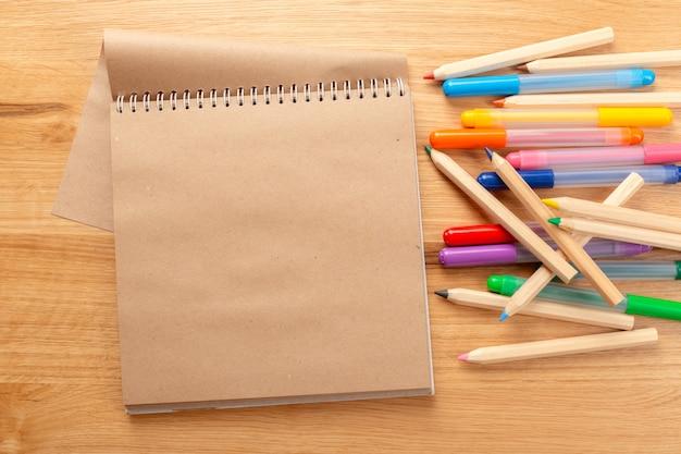 School and office supplies. school background. Premium Photo