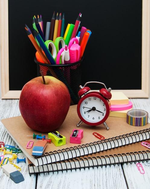 School office supplies Premium Photo
