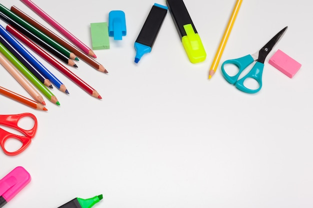 School stationery and supplies Premium Photo
