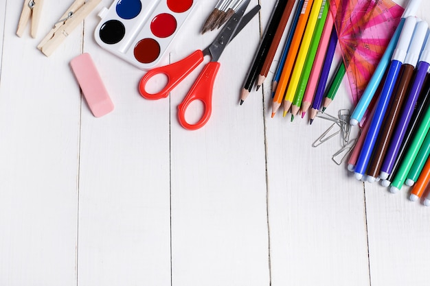 School supplies for art classes Free Photo