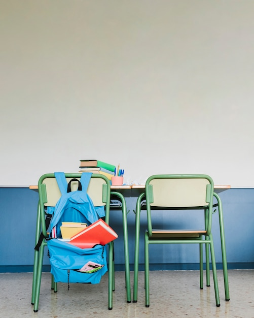 School workplace in classroom Free Photo