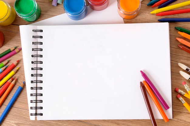 School writing book  and colors Free Photo