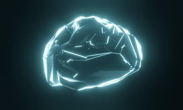 Научно-фантастический искусственный мозг человека. Premium Фотографии