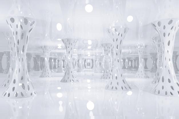 Sci fi футуристическая фантазия белый странный инопланетянин структура Premium Фотографии