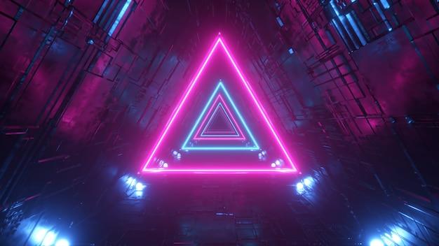 ネオンの三角形のあるsfトンネル Premium写真