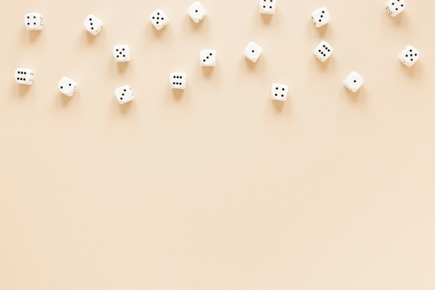 Science of dice probabilities top view arrangement Free Photo