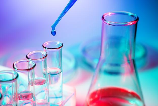 Premium Photo | Science laboratory test tubes , laboratory equipment