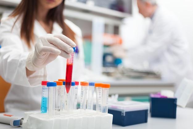 Scientist at work in a laboratory Premium Photo
