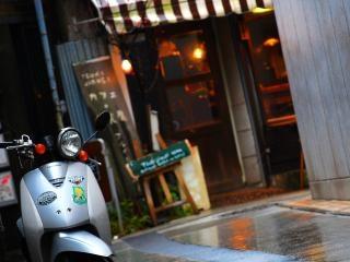 Scooter, pavement Free Photo