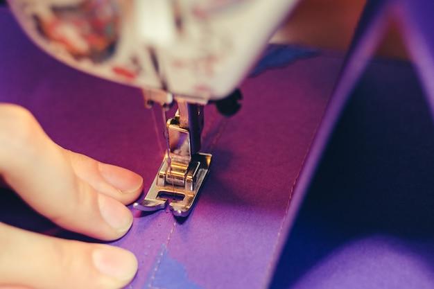 Scrapbooking design sewing machine concept Premium Photo