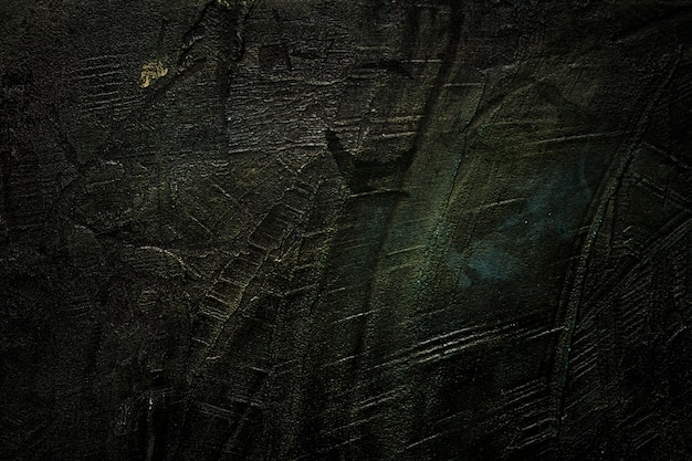 Scratched black wooden texture copy space Free Photo