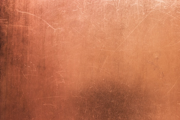 Scratched copper surface Premium Photo