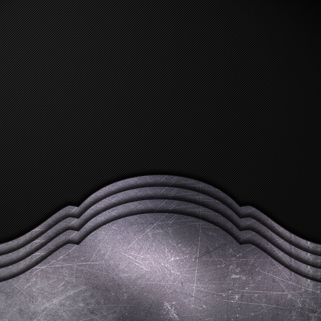 Scratched metal on a dark carbon fiber background Free Photo