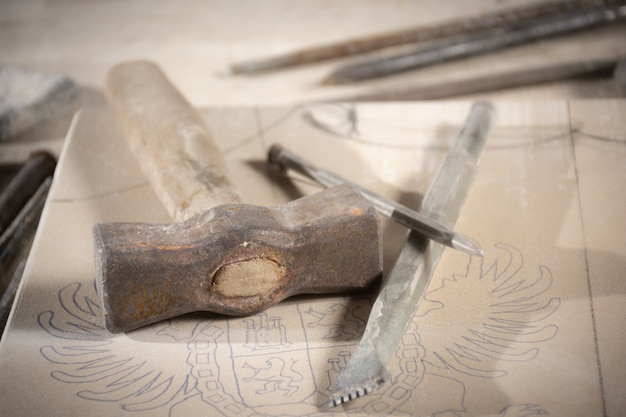 Sculptor's tools Premium Photo