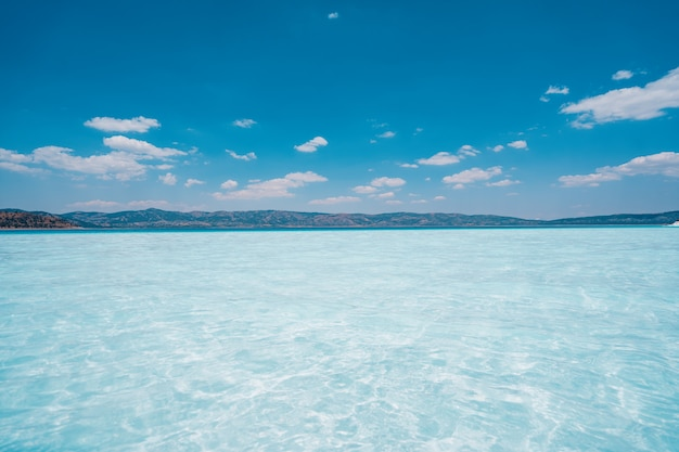 Sea and blue sky background. Free Photo