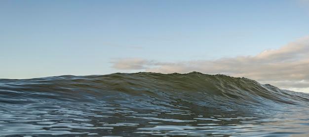 Paesaggio di mare con onde e cielo blu Foto Gratuite