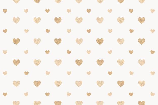 원활한 윤기 골드 하트 패턴 무료 사진