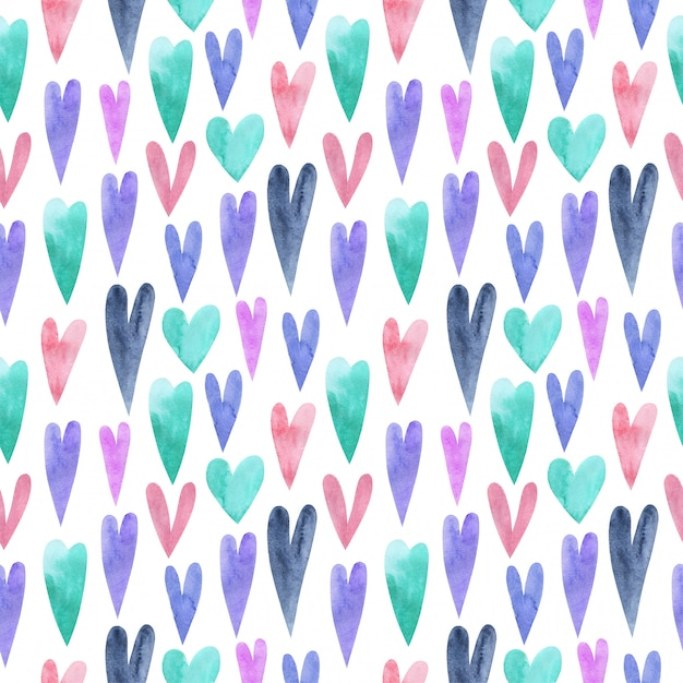 Seamless hand painted patercolor pattern. repeatable background. Premium Photo