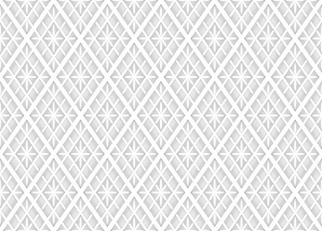 Seamless modern soft light white square grid pattern wall background. Premium Photo