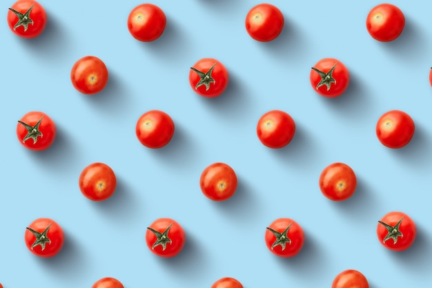 Seamless pattern of fresh cherry tomatoes Premium Photo