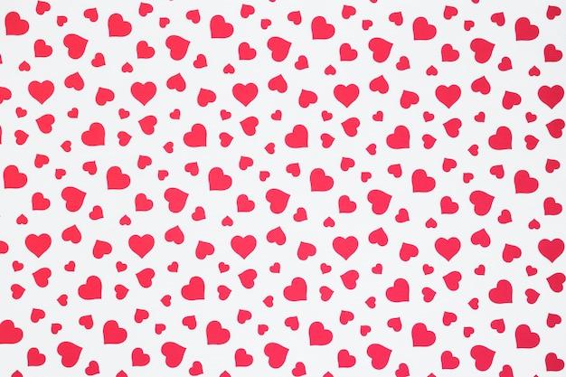 Seamless pattern of hearts Free Photo