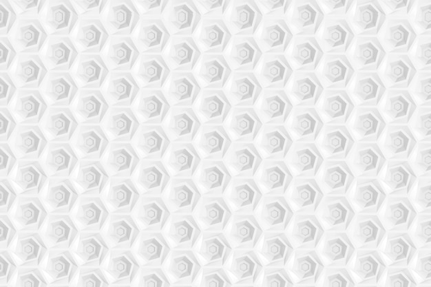 Seamless pattern of hexagons and circles based on hexagonal grid Premium Photo