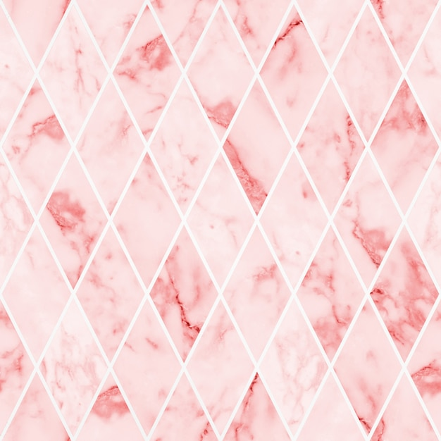 Seamless pink marble texture background Premium Photo