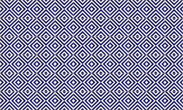 Seamless portugal or spain azulejo tile background Premium Photo