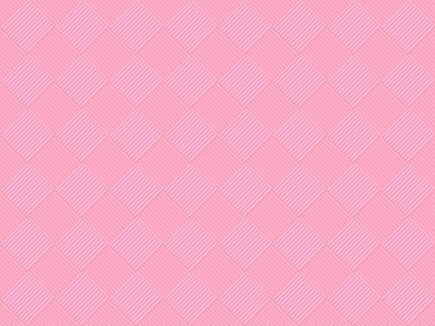 Seamless sweet soft pink color tone grid square art pattern tile for any design wall background. Premium Photo