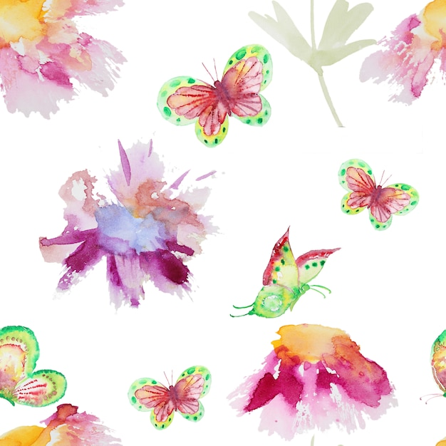 Seamless watercolor pattern Premium Photo